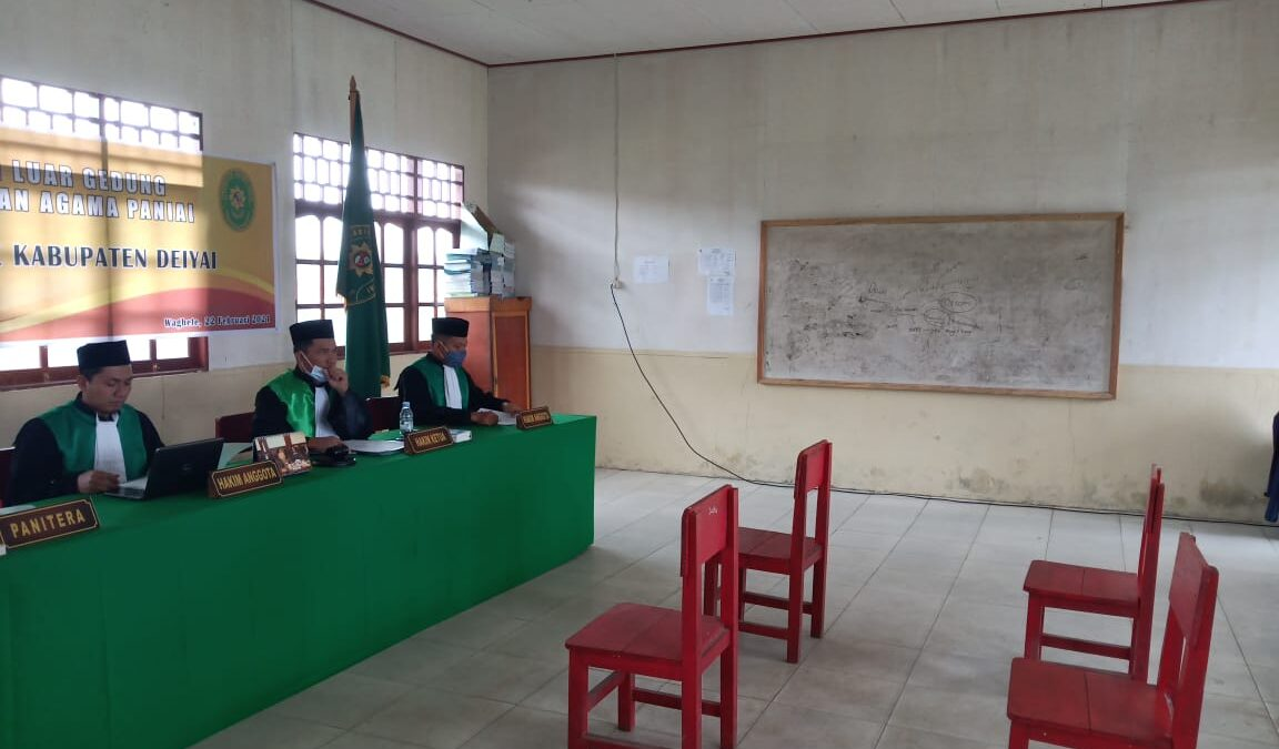 Pelaksanaan Sidang Keliling Pengadilan Agama Paniai di Kabupaten Deiyai | (26/2)